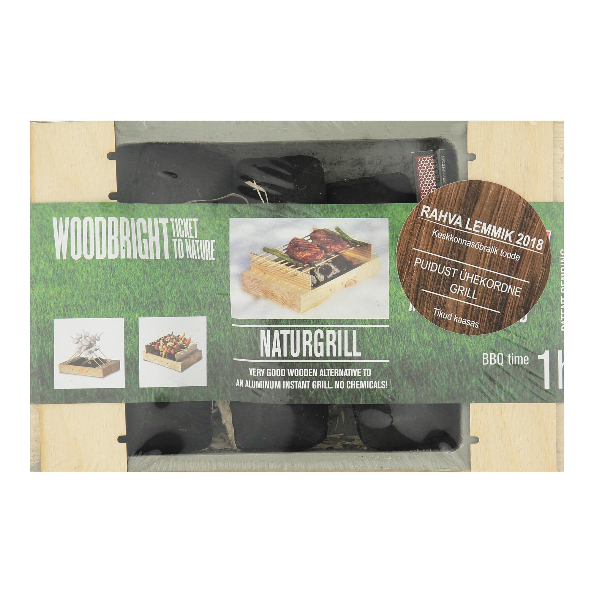 e508e421675 NaturGrill - Ühekordne puidust kiirgrill - Toidu valmistamise ja ...