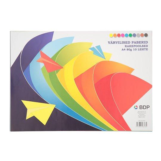 Värviline paber A4 10 värvi